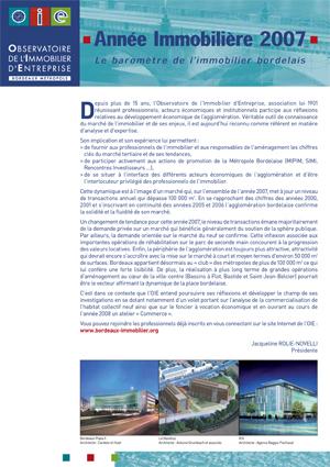Année Immobilière 2007
